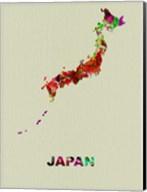 Japan Color Splatter Map Fine-Art Print