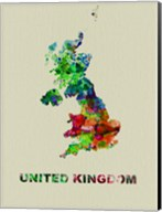 United Kingdom Color Splatter Map Fine-Art Print
