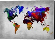World Watercolor Map 12 Fine-Art Print