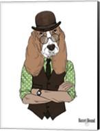 Basset Hound In Retro Style Fine-Art Print