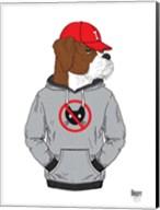 Boxer Dog In City Style Fine-Art Print