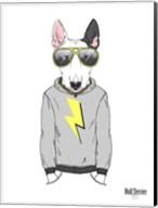 Bull Terrier in City Style Fine-Art Print