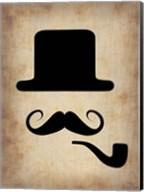 Hat Glasses and Mustache 4 Fine-Art Print