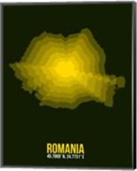 Romania Radiant Map 2 Fine-Art Print