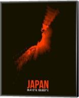 Japan Radiant Map 1 Fine-Art Print