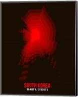 South Korea Radiant Map 1 Fine-Art Print