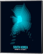 South Korea Radiant Map 2 Fine-Art Print