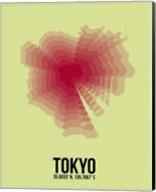 Tokyo Radiant Map 1 Fine-Art Print
