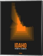 Idaho Radiant Map 6 Fine-Art Print