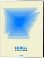 Arkansas Radiant Map 2 Fine-Art Print