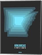 Arkansas Radiant Map 4 Fine-Art Print