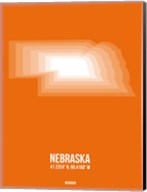 Nebraska Radiant Map 2 Fine-Art Print