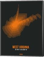 West Virginia Radiant Map 5 Fine-Art Print