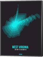 West Virginia Radiant Map 6 Fine-Art Print