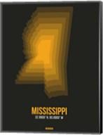 Mississippi Radiant Map 5 Fine-Art Print