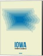 Iowa Radiant Map 1 Fine-Art Print