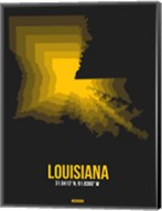 Louisiana Radiant Map 5 Fine-Art Print