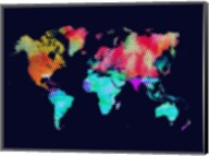 Dotted World Map 5 Fine-Art Print