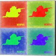 Memphis Pop Art Map 2 Fine-Art Print