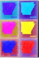 Arkansas Pop Art Map 2 Fine-Art Print