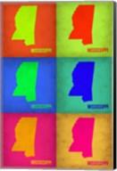 Mississippi Pop Art Map 1 Fine-Art Print