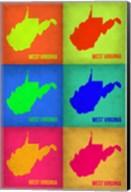 West Virginia Pop Art Map 1 Fine-Art Print