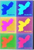 Philadelphia Pop Art Map 3 Fine-Art Print