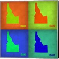 Idaho Pop Art Map 1 Fine-Art Print