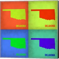 Oklahoma Pop Art Map 1 Fine-Art Print
