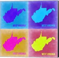 West Virginia Pop Art Map 2 Fine-Art Print