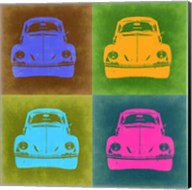 VW Beetle Front Pop Art 2 Fine-Art Print