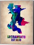 Sacramento Watercolor Map Fine-Art Print