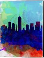 Indianapolis Watercolor Skyline Fine-Art Print