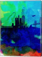 San Francisco Watercolor Skyline 2 Fine-Art Print