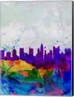Columbus Watercolor Skyline Fine-Art Print