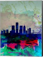 Detroit Watercolor Skyline Fine-Art Print