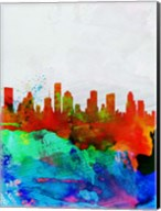 Houston Watercolor Skyline Fine-Art Print
