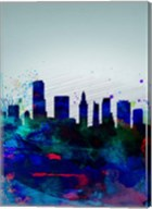 Miami Watercolor Skyline Fine-Art Print