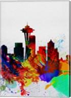 Seattle Watercolor Skyline 2 Fine-Art Print