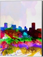 Baltimore Watercolor Skyline Fine-Art Print
