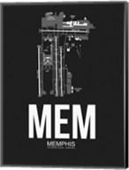 MEM Memphis Airport Black Fine-Art Print
