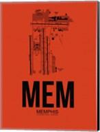 MEM Memphis Airport Orange Fine-Art Print