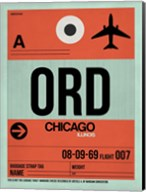 ORD Chicago Luggage Tag 2 Fine-Art Print