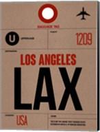 LAX Los Angeles Luggage Tag 1 Fine-Art Print