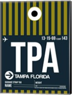 TPA Tampa Luggage Tag 2 Fine-Art Print