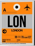 LON London Luggage Tag 1 Fine-Art Print