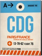 CDG Paris Luggage Tag 2 Fine-Art Print