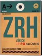 ZRH Zurich Luggage Tag 1 Fine-Art Print
