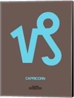 Capricorn Zodiac Sign Blue Fine-Art Print