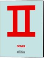 Gemini Zodiac Sign Red Fine-Art Print